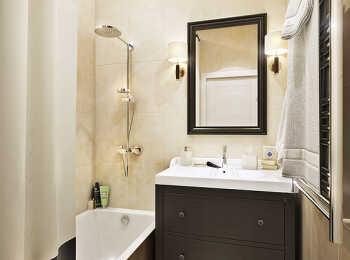 Отделка ванной комнаты в ЖК Баркли Медовая Долина